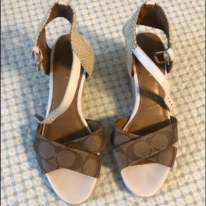 Coach wedges.  Size 5.5.
